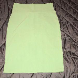 Lularoe Cassie skirt - medium. Light green color
